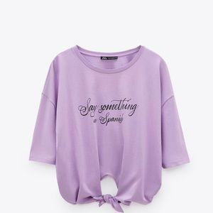 Zara Front Tie Shirt - Small